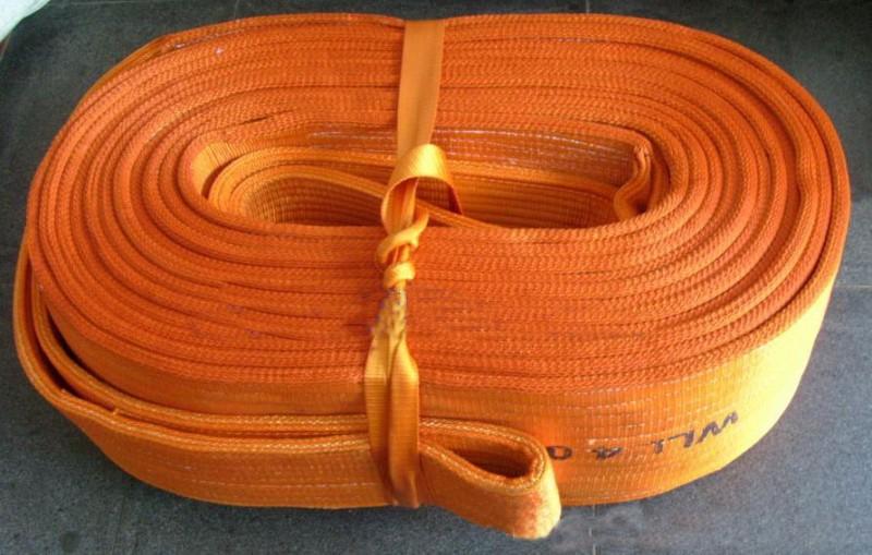 大吨位扁平吊装带_加宽型扁平双环吊带_宽体型扁平吊带_特厚防割起重吊装带